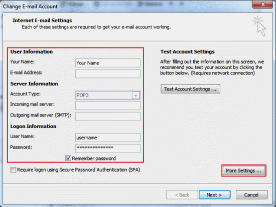 how to change backup email on outlook website