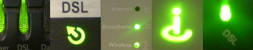 Check the status of your Broadband light