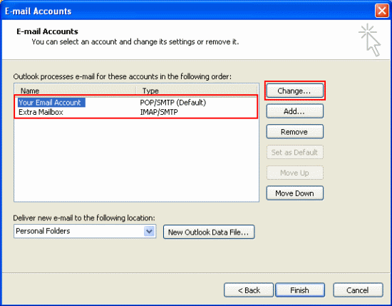 how to connect to outlook email from home