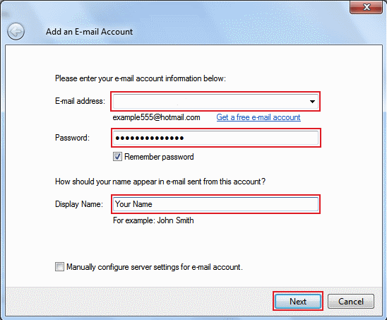 Email Setup: Windows Live Mail
